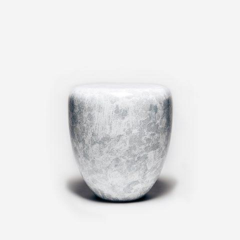 Table d'Appoint Dot Blanc et Gris Pâle