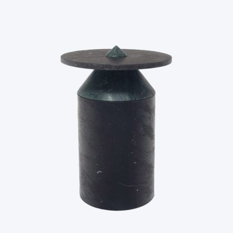 Totem Black Marquina Side table