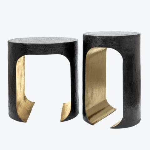 Hellmet Bronze Side Table