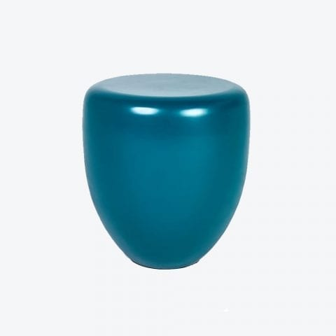 Table d'Appoint Dot Mat Bleu Paon