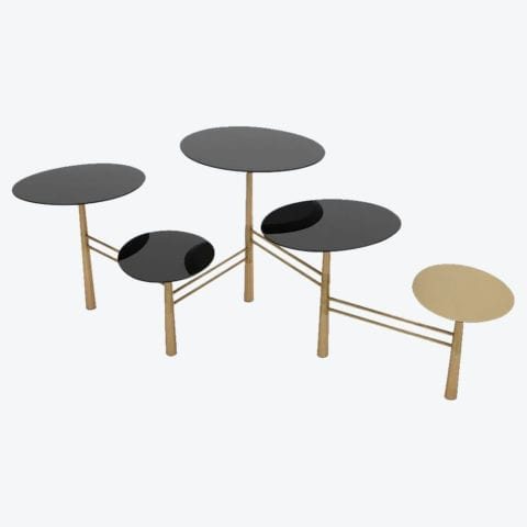 Pebble Coffee Table Black