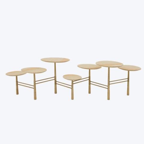 Pebble Coffee Table Gold Leaf