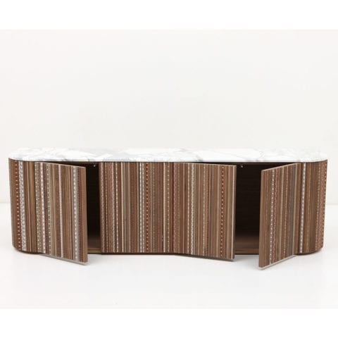 The Invisible Collection Nada Debs Funquetery Pleated Console