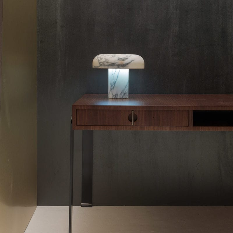 The Invisible Collection Lio Console David Haymann Walnut Noyer Oak Chêne Marie Table Lamp