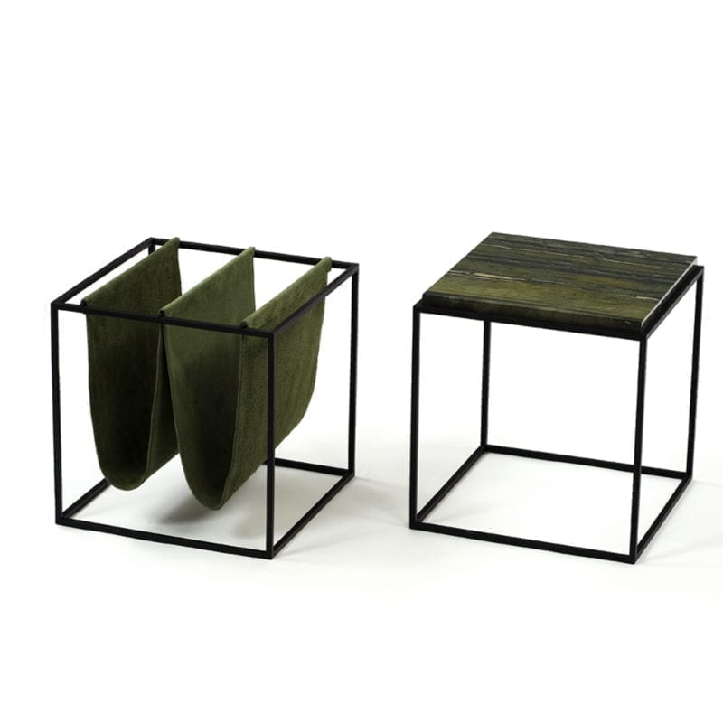 The_Invisible_Collection_Etel_Domino_Side_Table_and_Domino_Magazine_Holder_black