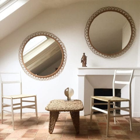 The Invisible Collection Atelier Vime Flower Mirror