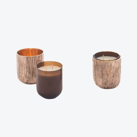 Bronze Scented Candle Set