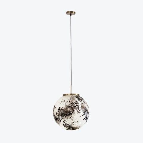 Ceiling Lamp King Sun Murano Black And White