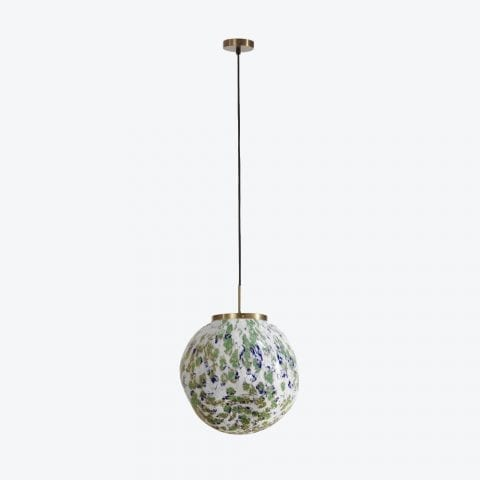 Ceiling Lamp King Sun Murano Green And Blue
