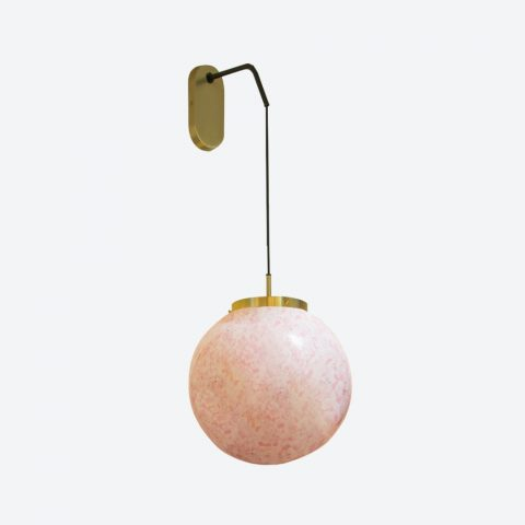 Wall Lamp King Sun Murano Pink