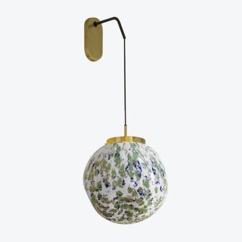 Wall Lamp King Sun Murano Green And Blue