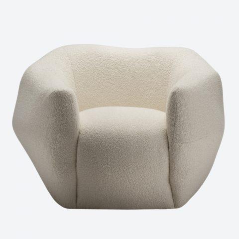 Asymmetry Armchair Bouclé