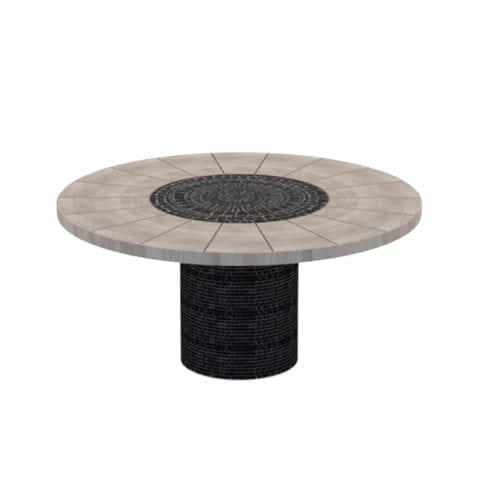 Table Ronde Piatro Mosaïque