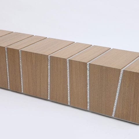 Draw the line benches by Nada Debs - The Invisible Collection