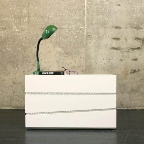 Draw The Line Side Table by Nada Debs