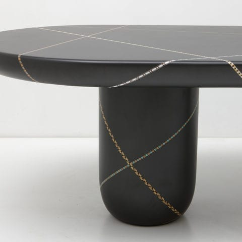Marquetry Mania Dining Table by Nada Debs