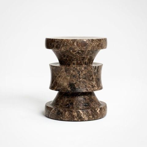 Barth Stool Les Intemporels Brown Marble