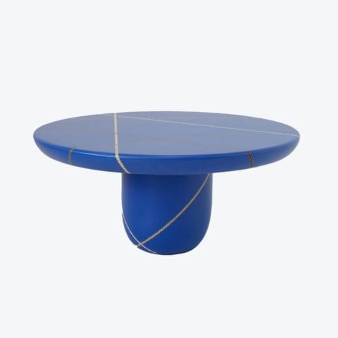 Table Basse Marquetry Mania Bleue
