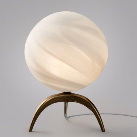 Lampe Tripode Planète Blanche LEM