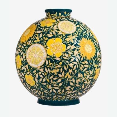Vase Boule Coloniale Lemon Insect