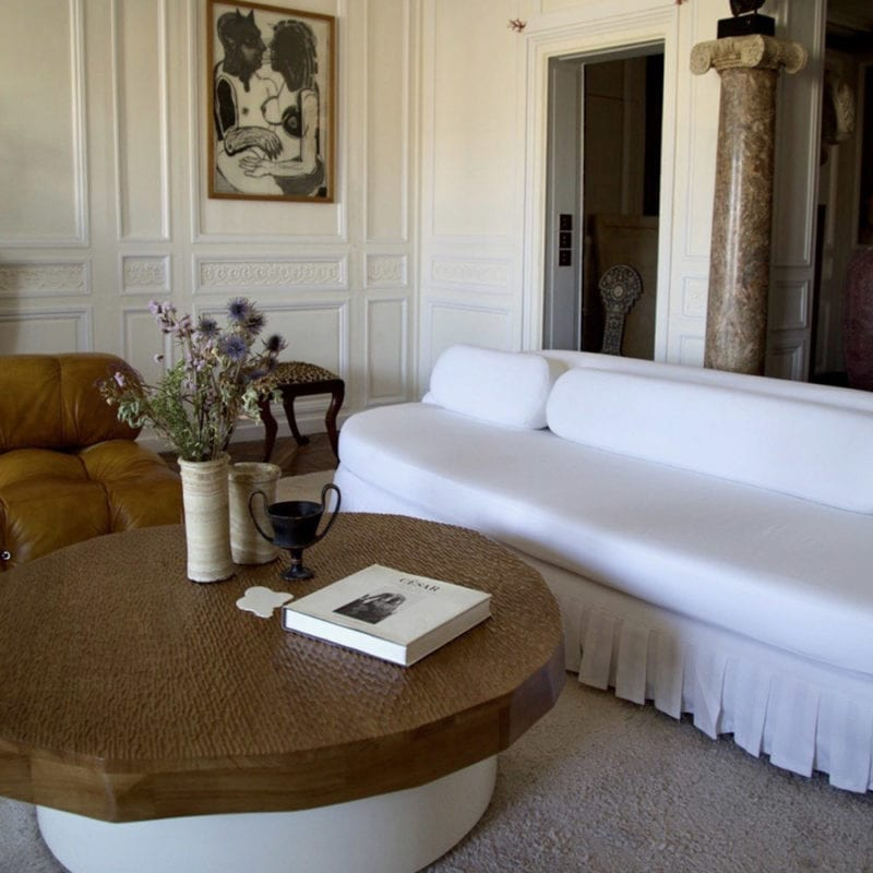 The Invisible Collection Palais Royal Froufrou Sofa Pierre Augustin Rose