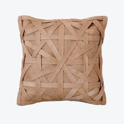 Diamond Large Weave Camel Cushion Cover