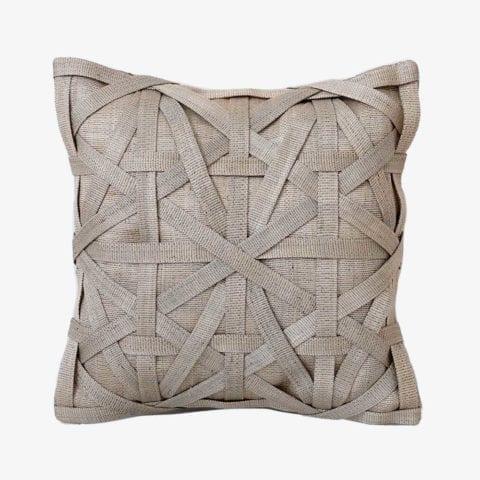 Diamond Large Weave Light Grey Cushion Cover