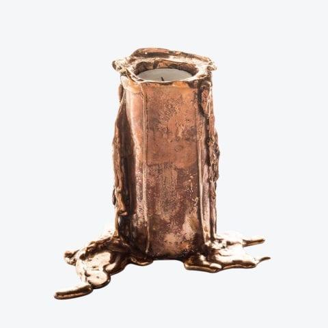 Melted Bronze Candle Holder N°3