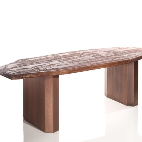 The Invisible Collection Pierre Bonnefille Table Polygone Cuivre