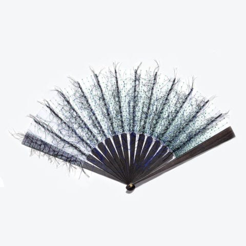 Green and Blue Pigment Hand-Fan