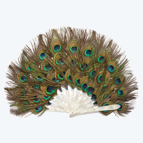 Triple Peacock Hand-Fan