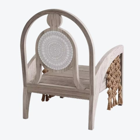 Piatro Mosaic Tasseled Lounge Chair