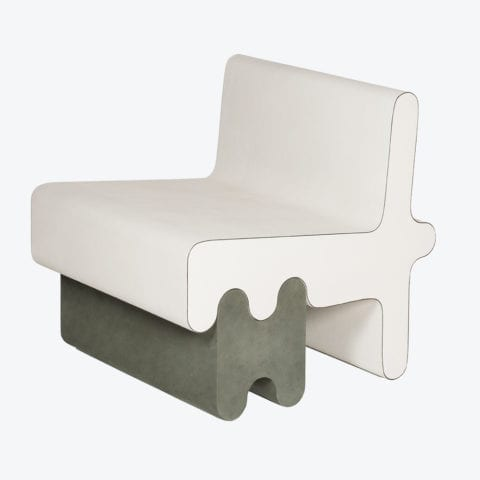 Ossicle Leather Armchair