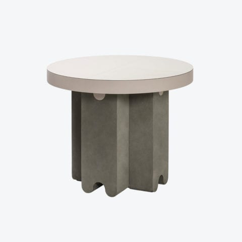 Ossicle Leather Round Table