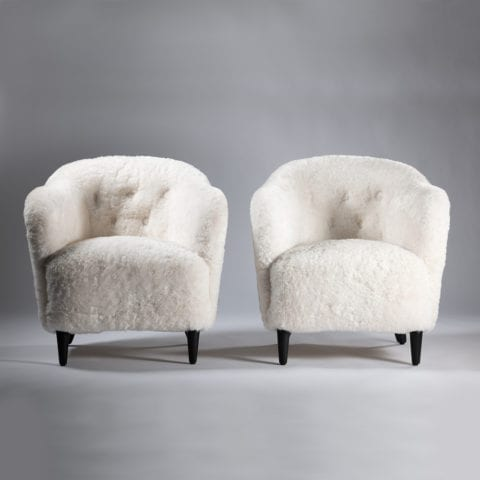 Pair of 1940 Swedish Armchairs – Sold