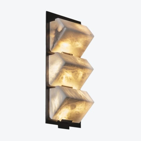 Triple Sloping Block Wall Lamp