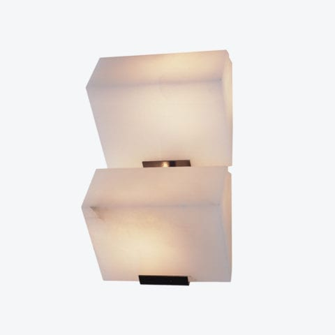 Double Sloping Block Wall Lamp