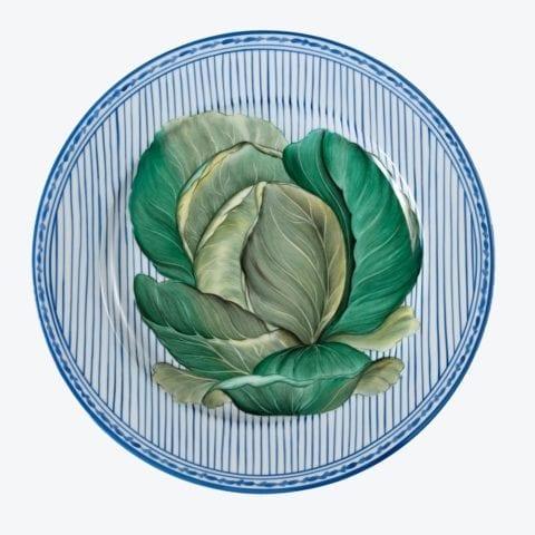 Potager en Bleu – Lot De 6 Assiettes Presentation