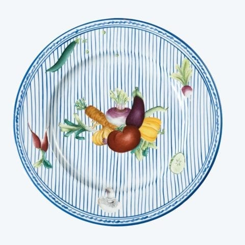 Potager in Blue – Dinner Plate