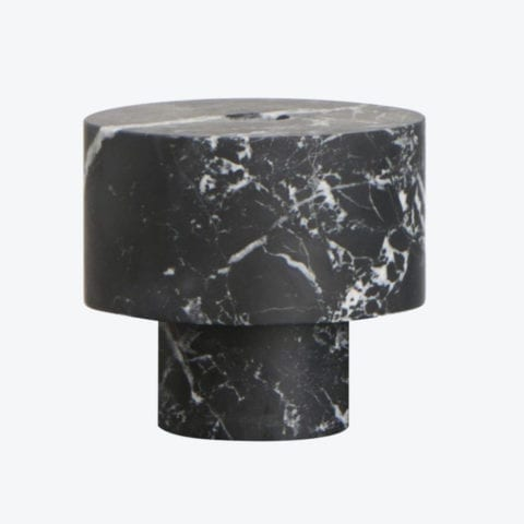 Bougeoir Inside Out Nero Marquina