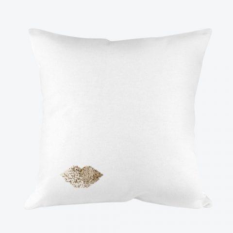 Gold Lips Pillowcase