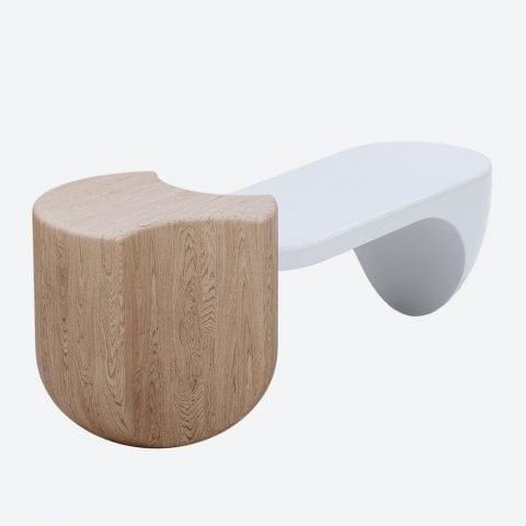 Ginkgo Oak Long Side Table