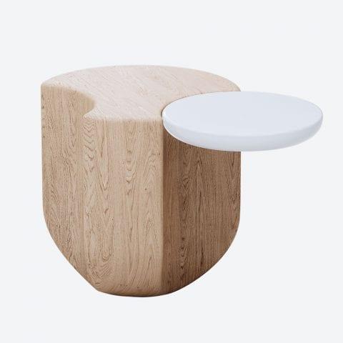 Ginkgo Oak Side Table