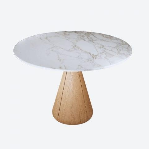 Udukkai Oak Circular Table