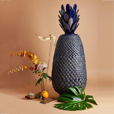 Vase Bleu Métallique