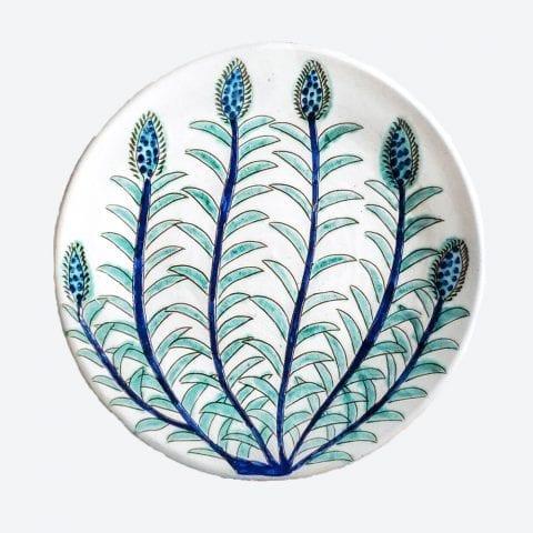Blue & Green Buds Serving Plate