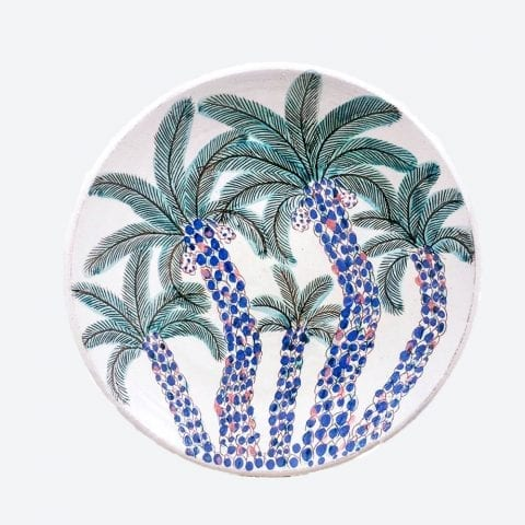Cluster Of Palms Serving Plate