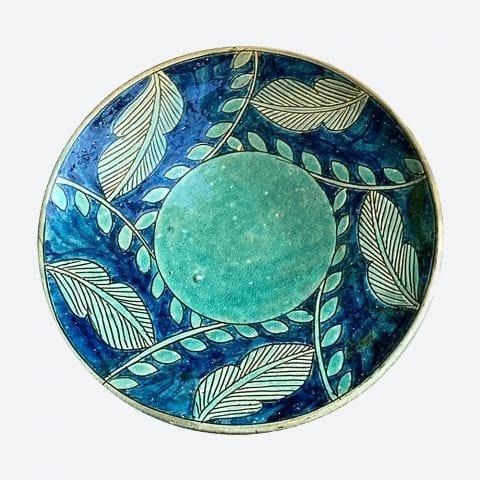 Turquoise Leaf Plate