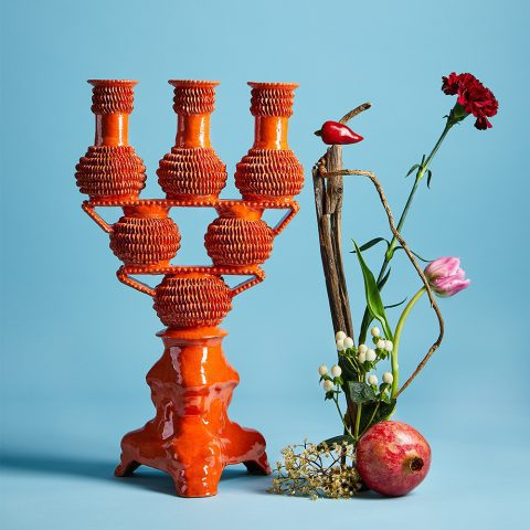 Coral Triple Candlestick